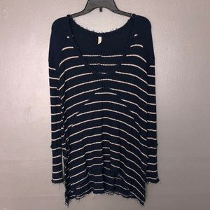 Free people stripped thermal tunic size s